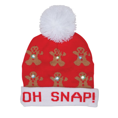Light-Up Holiday Hat - Oh Snap!