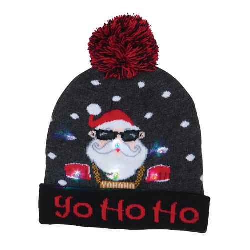 Light-Up Holiday Hat - Ho Ho Ho