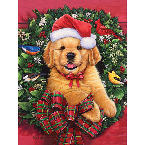 Christmas Puppy 1000 Piece Jigsaw Puzzle