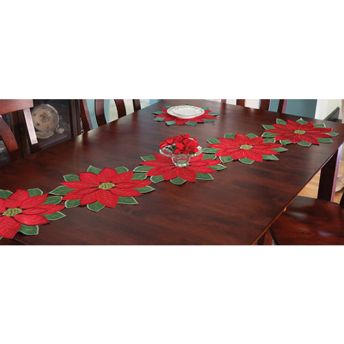 Set of 5: Poinsettia Runner - 70 Long