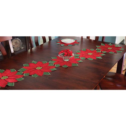 Set of 5: Poinsettia Runner - 70 Long