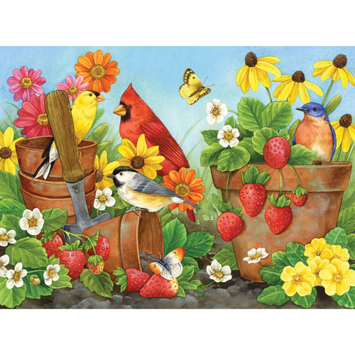 Strawberry Sunrise 300 Large Piece Jigsaw Puzzle