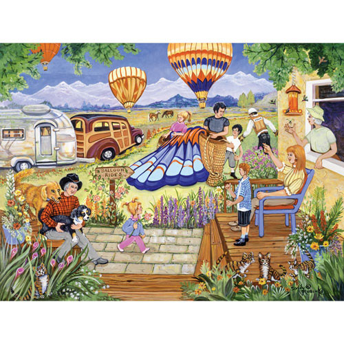 Balloon Rides 500 Piece Jigsaw Puzzle