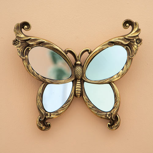 Mirrored Butterfly Wall Decor