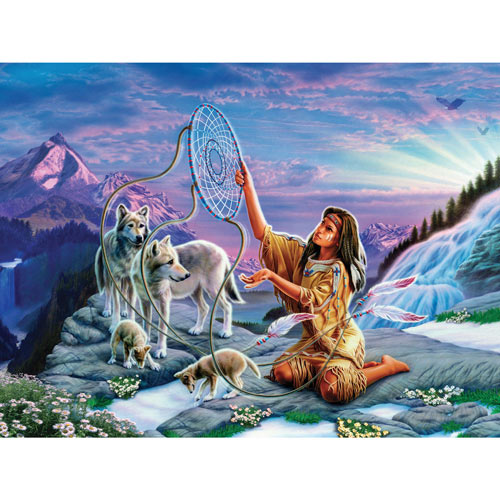 Dreamcatcher 300 Large Piece Glitter Effects Jigsaw Puzzle
