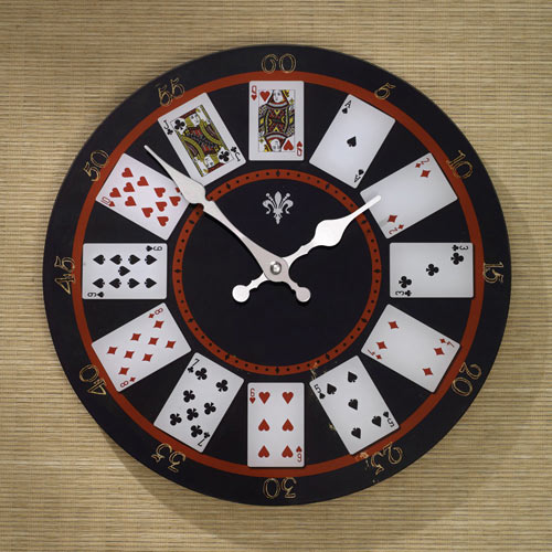 Playing Cards Clock