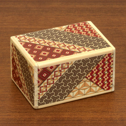 Mosaic Secret Wooden Puzzle Box - Medium