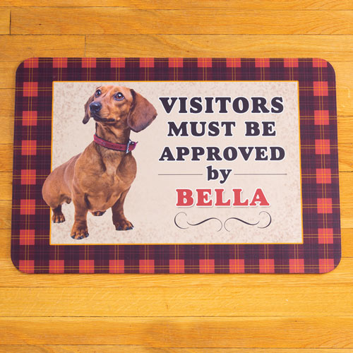 Personalized Dog Breed Visitors Approved Doormat