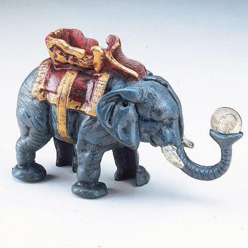 Elephant Bank Cast Iron Bank