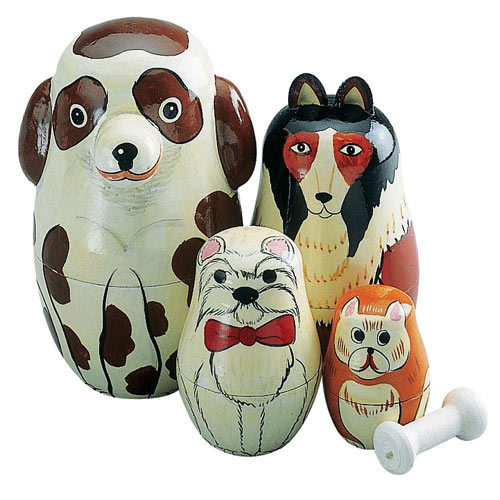 Dogs Nesting Doll Set