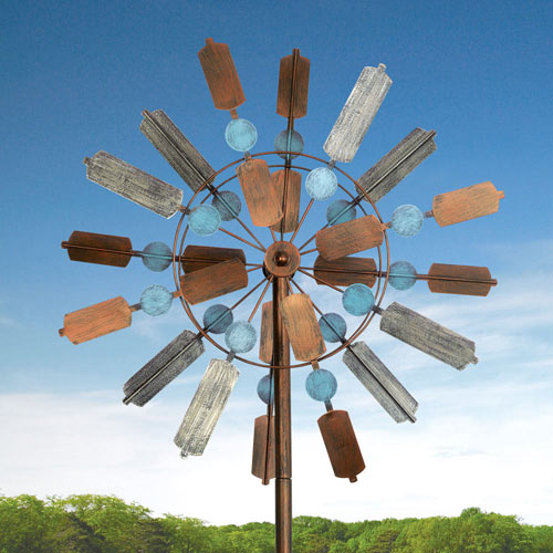 Cinnamon Swirl Metal Wind Spinner
