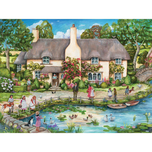 Cottage by the River 300 Large Piece Jigsaw Puzzle