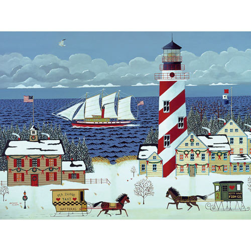 Christmas in the Carolinas 1000 Piece Jigsaw Puzzle
