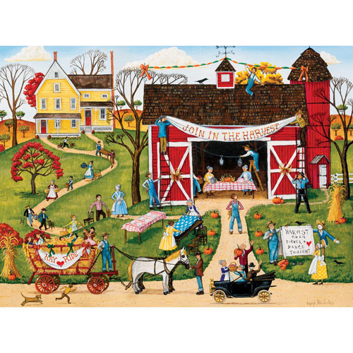 Harvest Moon Dinner Dance 1000 Piece Jigsaw Puzzle