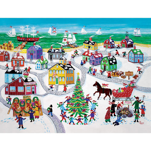Christmas by the Sea 1000 Piece Jigsaw Puzzle