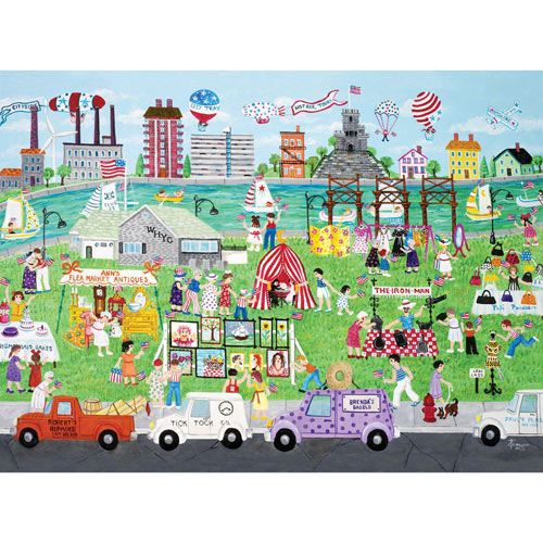 Assembly Row Flea Market 1000 Piece Jigsaw Puzzle