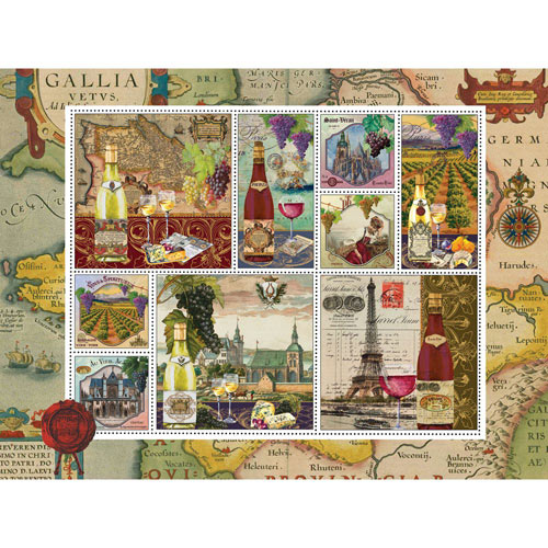Wine Country 300 Large Piece Stamp Jigsaw Puzzle