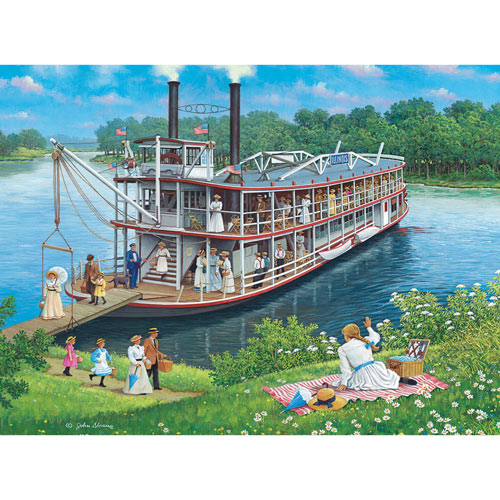 Steamboat Picnic 1000 Piece Jigsaw Puzzle