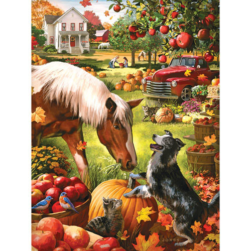 Autumn Farm 300 Large Piece Jigsaw Puzzle