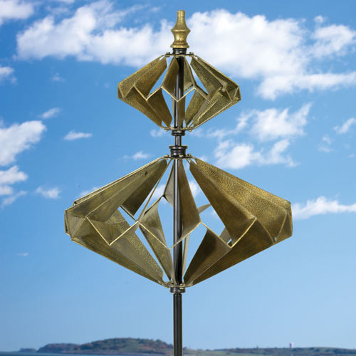 Double Diamond Wind Spinner