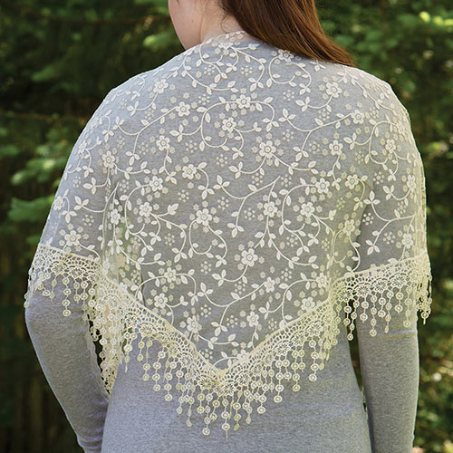 Lace Droplets Scarf - Cream