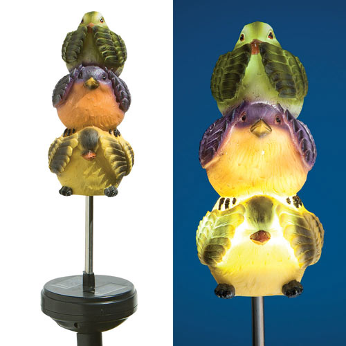 Solar Spinning Light Up Birds Mobile