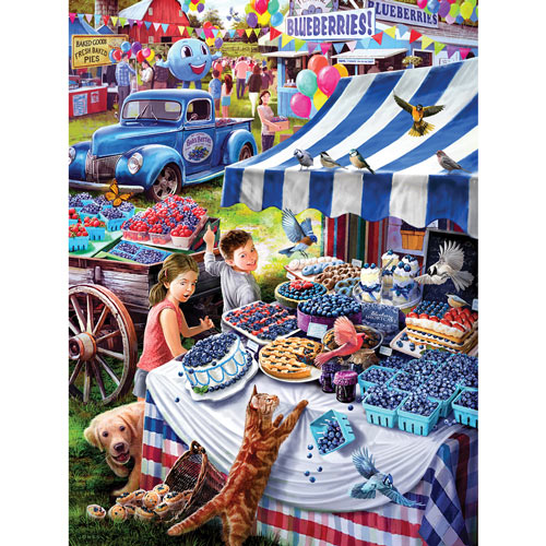 Blueberry Festival 300 Large Piece Jigsaw Puzzle