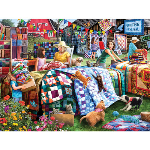 Quilting Festival 300 Large Piece Jigsaw Puzzle