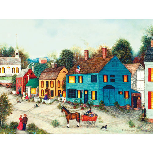 Village Main Street 300 Large Piece Jigsaw Puzzle