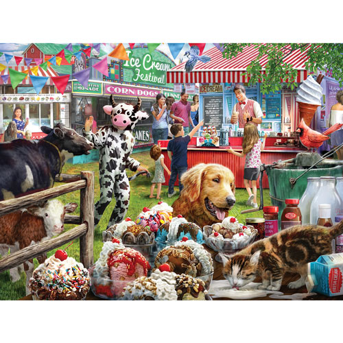 Ice Cream Festival 500 Piece Jigsaw Puzzle