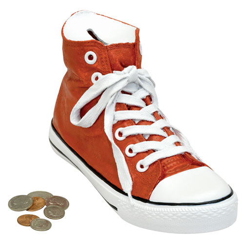 High Top Sneaker Bank - Red
