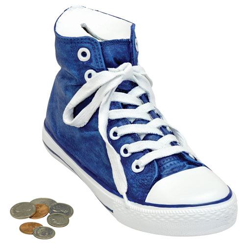 High Top Sneaker Bank - Blue