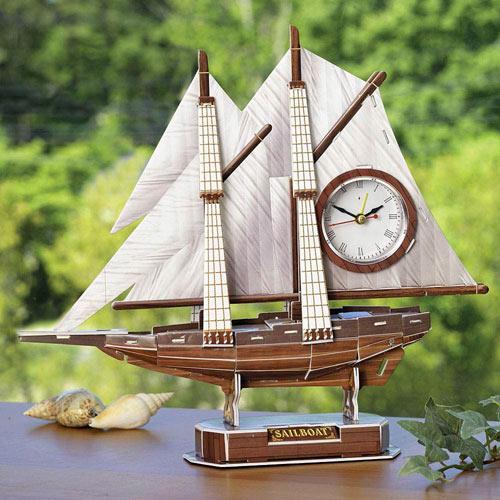Sailboat Clock Model Kit