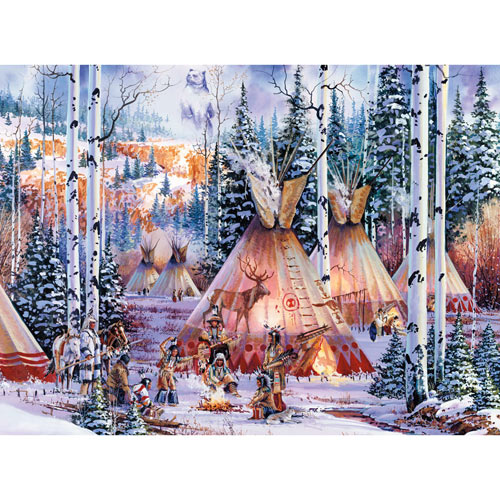 The Bear Spirit 500 Piece Glow-In-the-Dark Jigsaw Puzzle