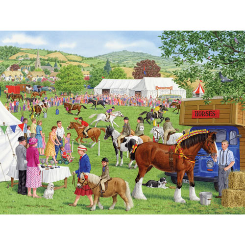 The Grand Horse Show 300 Large Piece Jigsaw Puzzle