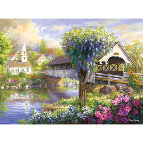 Picturesque Covered Bridge 500 Piece Jigsaw Puzzle