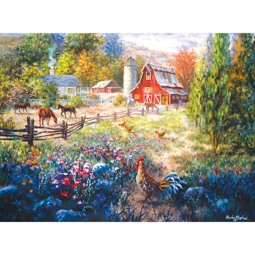 Grazing the Fertile Farmland 1000 Piece Jigsaw Puzzle
