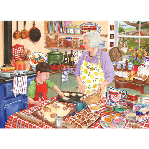 Grandma's Kitchen Hot Cross Buns 300 Large Piece Jigsaw Puzzle