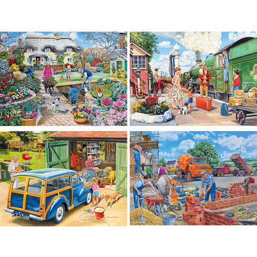 Set of 4: Trevor Mitchell 1000 Piece Jigsaw Puzzles