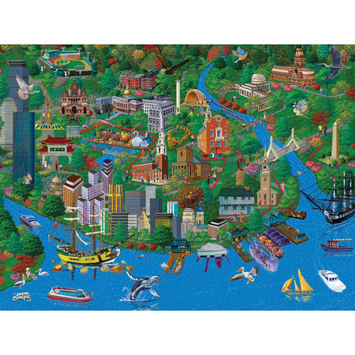 Boston 1000 Piece Jigsaw Puzzle