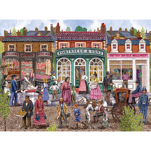 Victorian Street In Summer 1000 Piece Jigsaw Puzzle