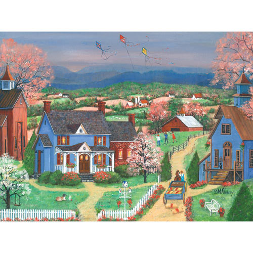 Kite Flyers 500 Piece Jigsaw Puzzle