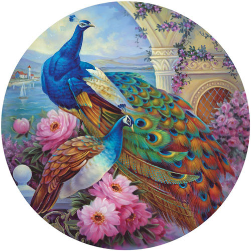 Marvelous Garden 300 Large Piece Round Jigsaw Puzzle