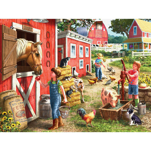 Morning Chores 300 Large Piece Jigsaw Puzzle