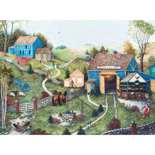 Meadow View Farm 1000 Piece Jigsaw Puzzle