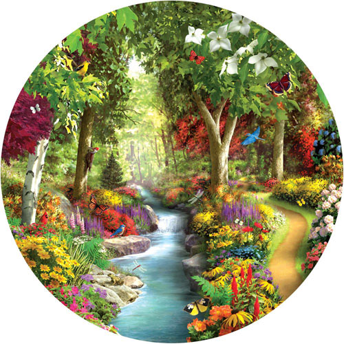 Morning Daydream 300 Large Piece Round Jigsaw Puzzle