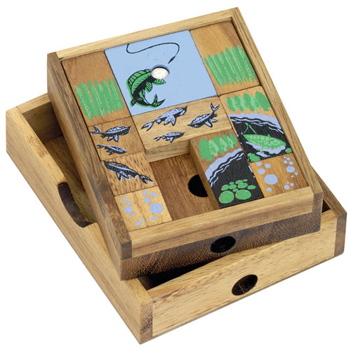 Fishing Sliding Wooden Puzzle