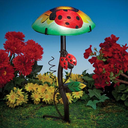 Ladybug Solar Toadstool Stake