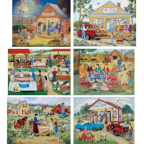 Set of 6: Kay Lamb Shannon 1000 Piece Puzzles