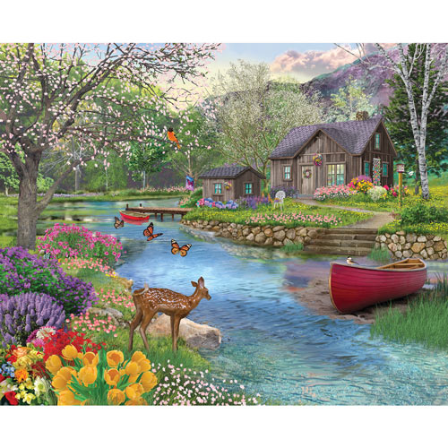 Spring Cabin 300 Large Piece Jigsaw Puzzle